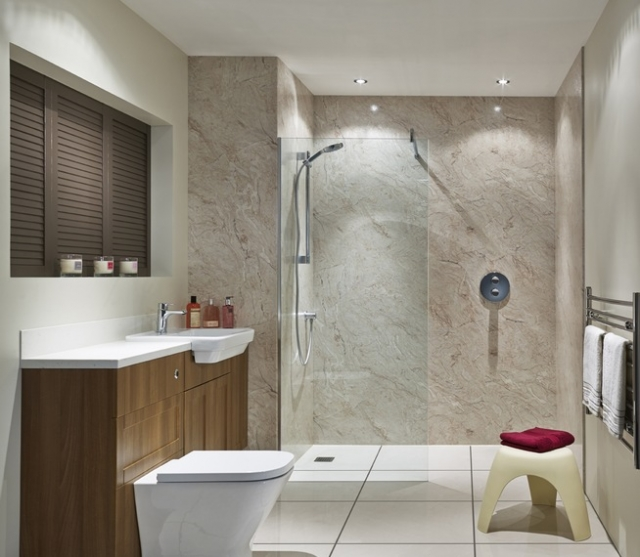 Nuance Shower Wall Panel 1200 Ivory Marble