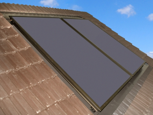 Grant Aurora 2 Panel Collectors In Roof Hot Water Solar