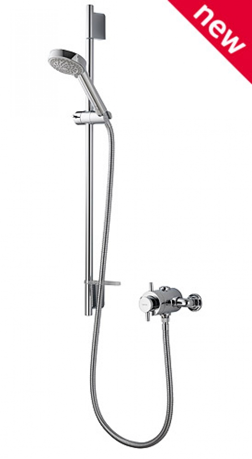 AQUALISA ASPIRE SHOWER SET EXPOSED VALVE & SLIDE RAIL KIT CHROME