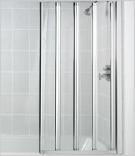 Manhattan Swiftseal 4 Panel Folding Bath Screen Cp