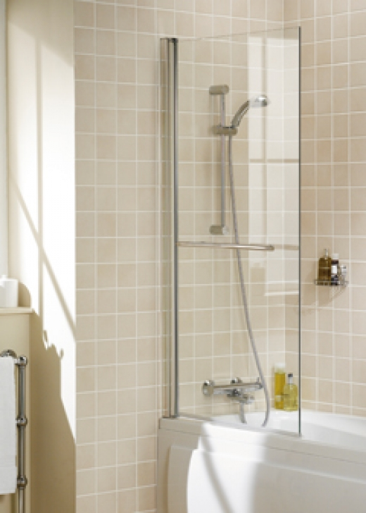 LAKES BATH SCREEN SQUARE 800 & RAIL WH