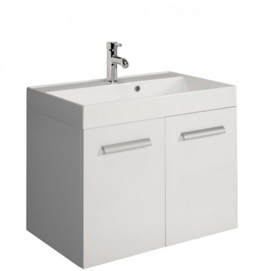BAUHAUS DESIGN DOOR VANITY UNIT 700 X 450 WHITE